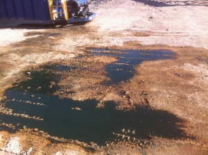 spill on well 14_081413